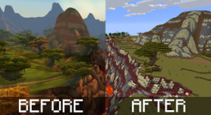 Crafting Azeroth Before After