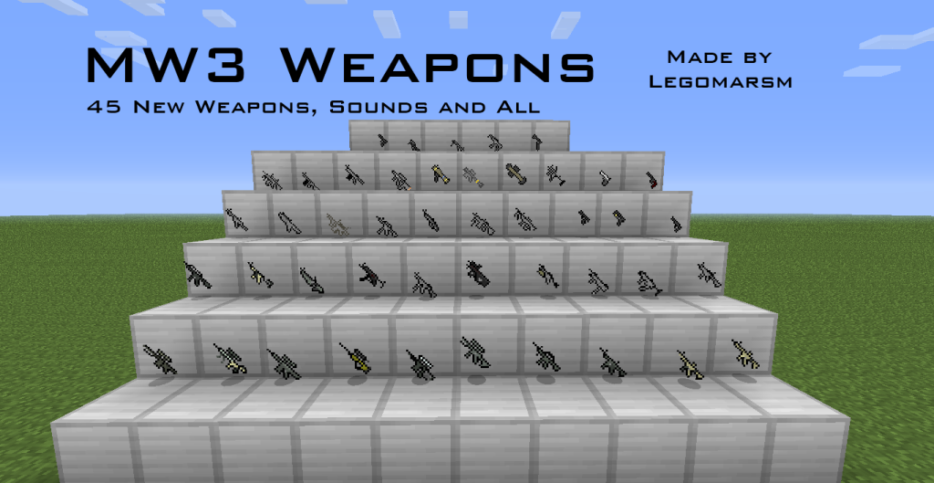 Black Ops 2 Weapons Pack for Flan's Mod for Minecraft 1 6 4/1 7 2